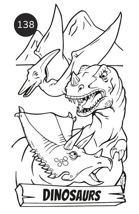 גיליון צביעה ענק - דינוזאורים