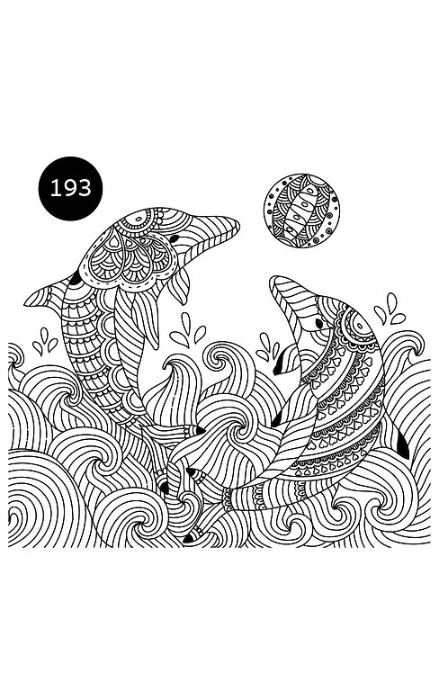 גיליון צביעה ענק-דולפינים