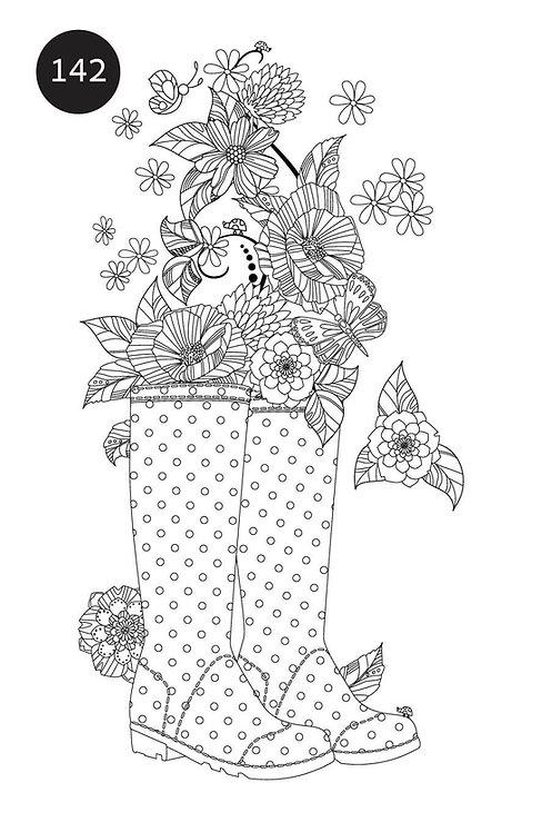 גיליון צביעה ענק לחורף - מגפיים