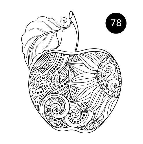 גיליון צביעה ענק לראש השנה - תפוח