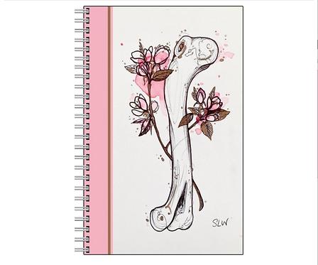 Coyote Blossom Bone Notebook