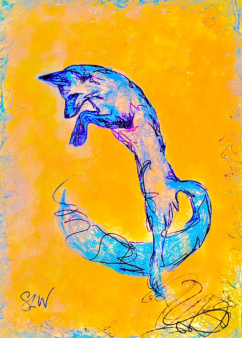 "Foxy Moxie, 5""x7"" gloss print"