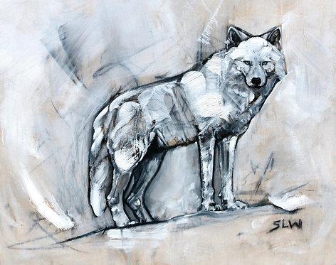 "Sky Wolf, 8""x10"" matte print"