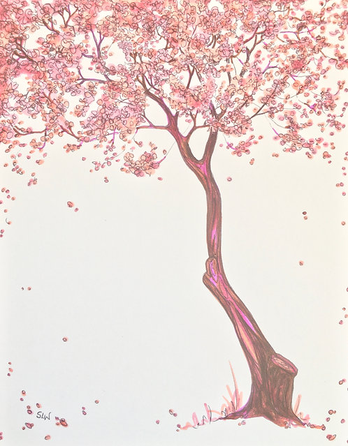 Blossom Tree greeting cards, set of 10