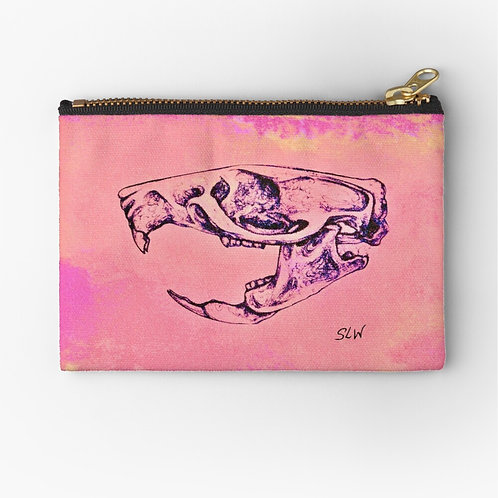Pinkink Mouse Skull Pouch