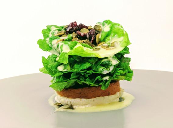 Bridget Bray - (NK) FIRST COURSE SALAD Spiced Pumpkin Salad Candied Cranberry _ Bibb Lettu