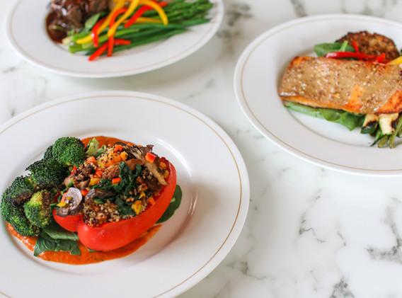 Butler's Pantry entree options - stuffed peppers, salmon & tenderloin.jpg
