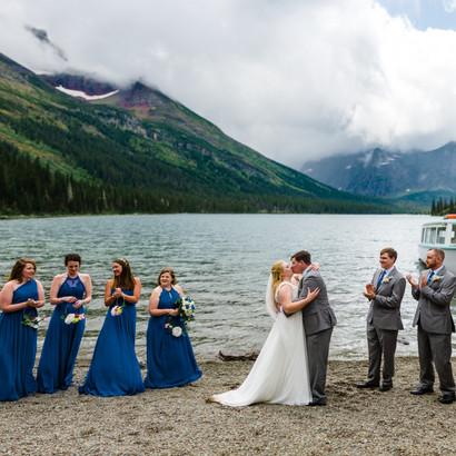 Honeybee Weddings 331Glacier National Park Wedding_Lake Jo