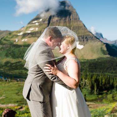 Honeybee Weddings 236Glacier National Park Wedding_Lake Jo