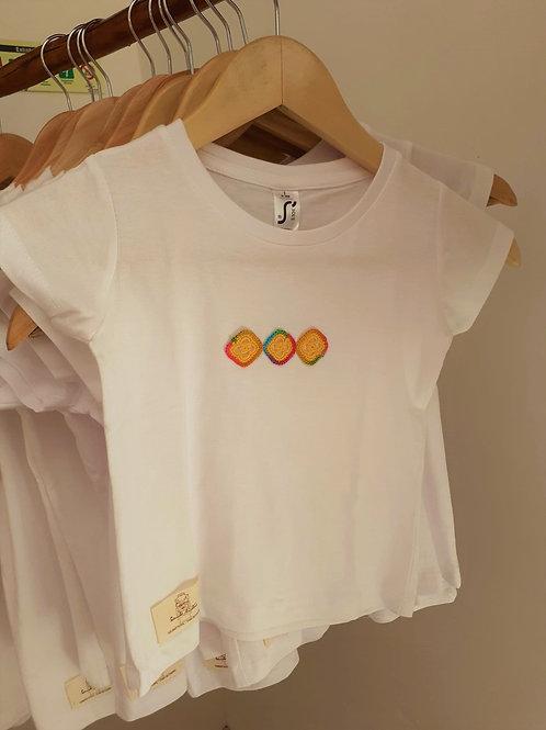 T-shirt Criança Motivo Arco-Íris