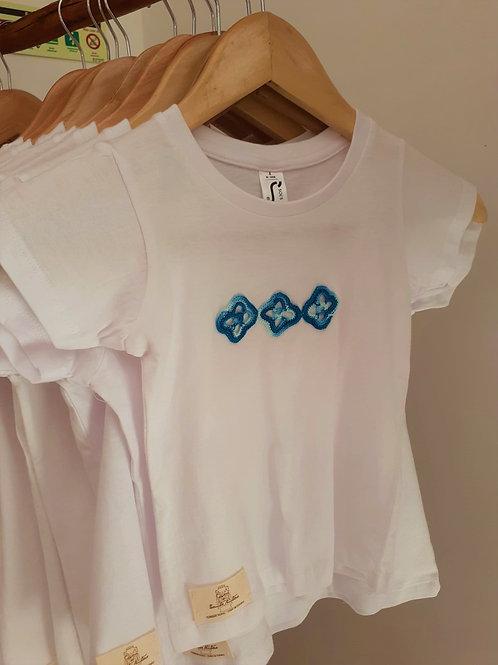 T-shirt Criança Motivo Azul