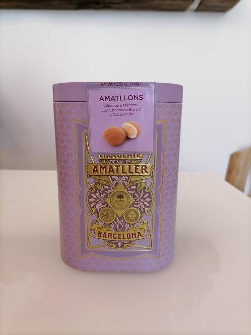Lata de Amêndoas cobertas de Chocolate