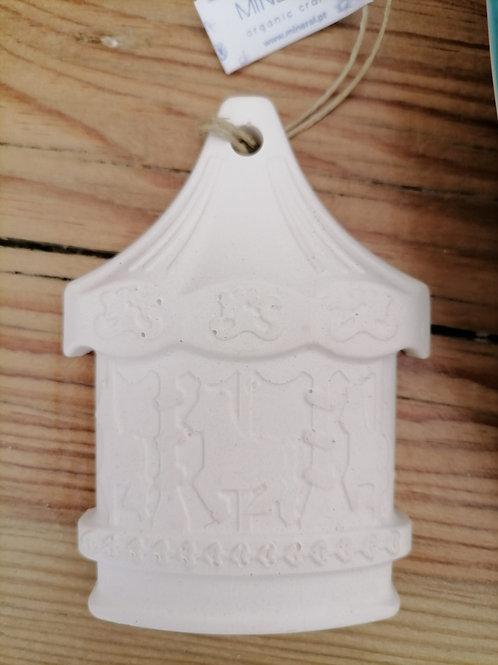 Carrossel Branco Cerâmica Perfumada