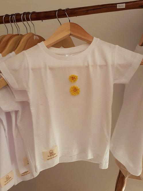 T-shirt Adulto Flores Amarelas