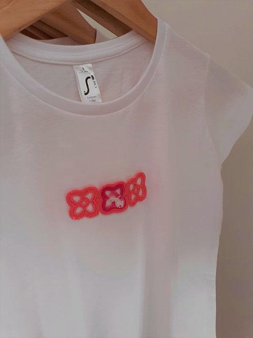 T-shirt Adulto Motivo Rosa Bebé