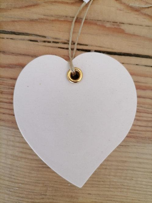 Corações Brancos Cerâmica Perfumada