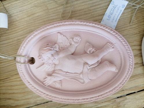 Anjo Oval Cerâmica Perfumada