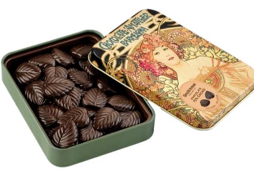 Latinha Folhas Chocolate