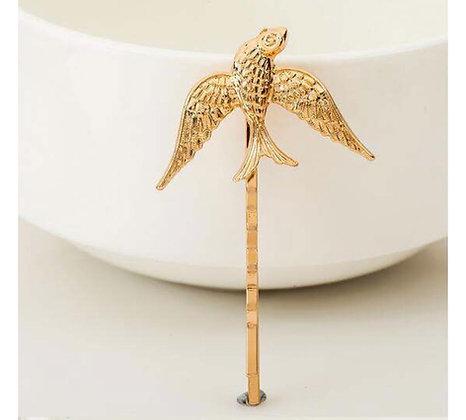 Golden Love Birds Hairpin 2 per set