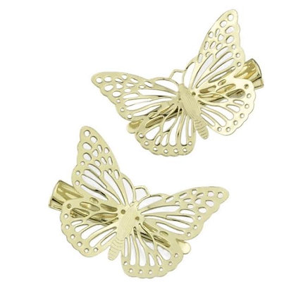 Golden Butterfly Hair Clip 2 per set