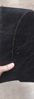 Leather bound journal detail