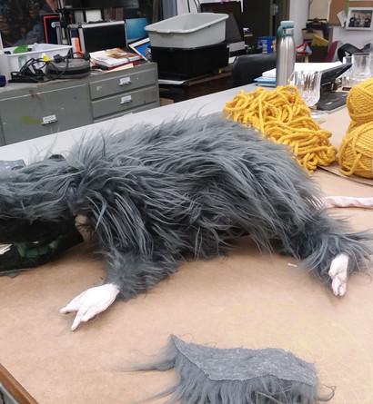 Rat puppet progress shot