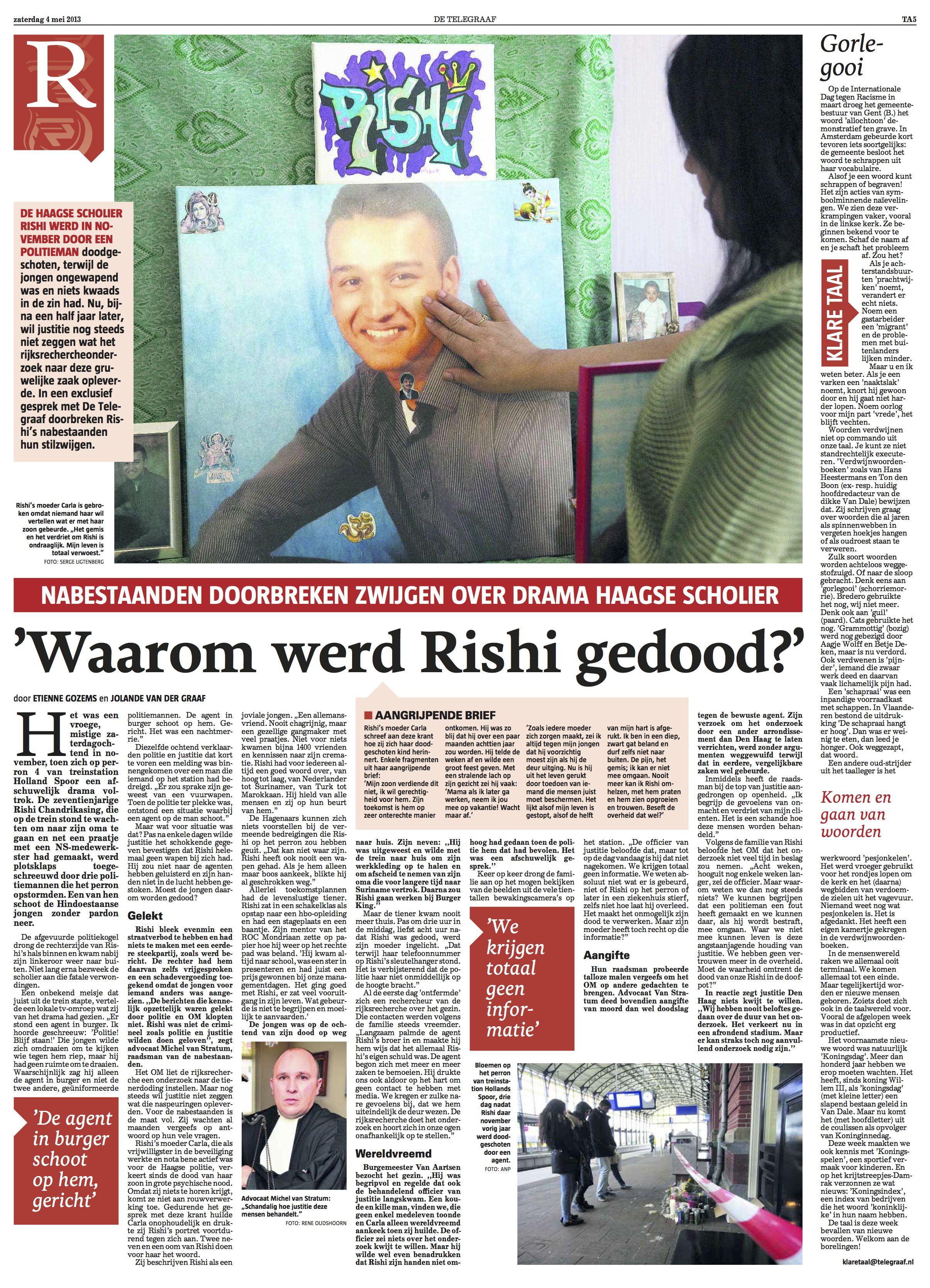 Waarom werd Rishi gedood?