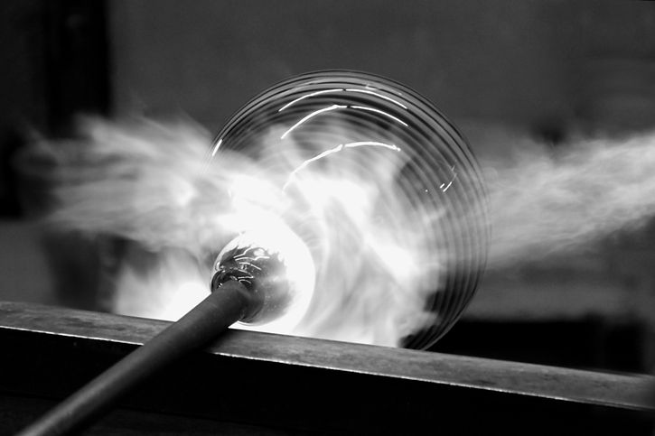 Grey glass blowing