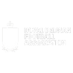 White Royal Belgian Football Association logo