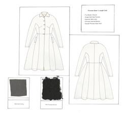 Boucle Collar Coat Flat