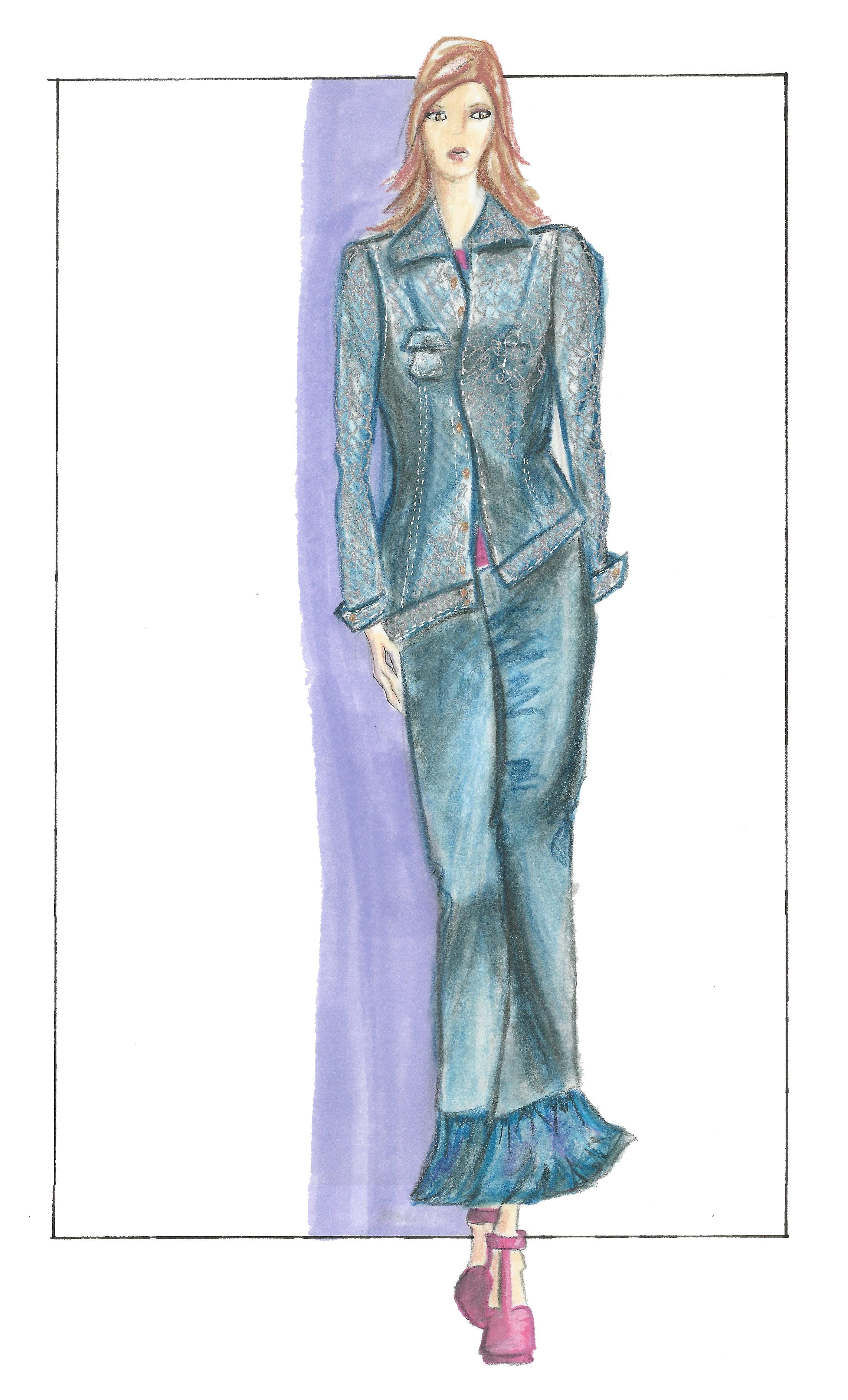 Jean Jacket Sketch