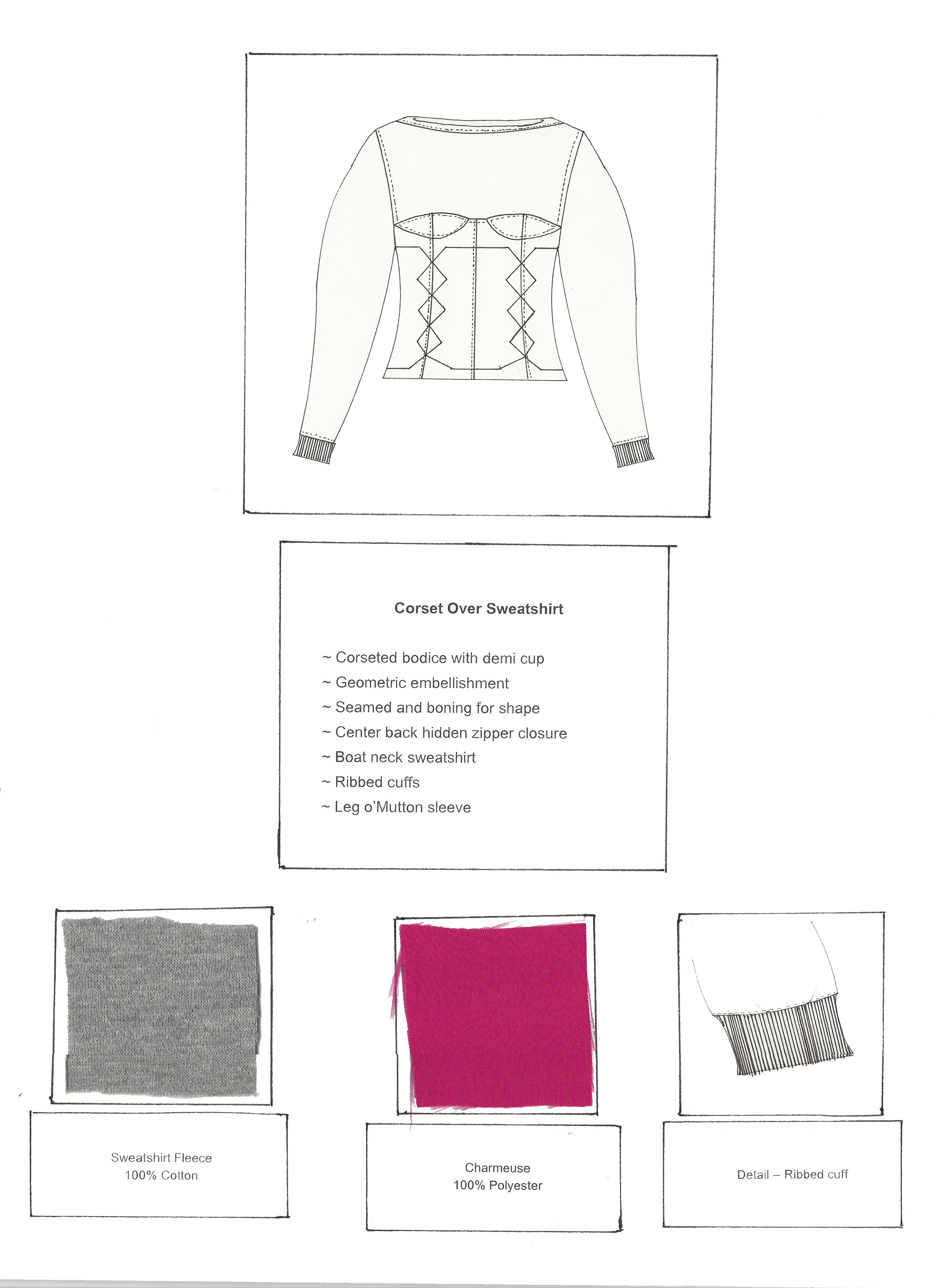 Corset Sweatshirt