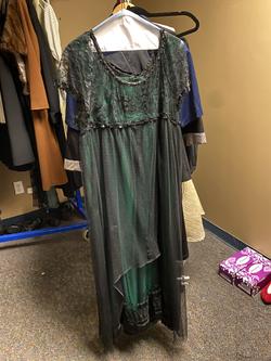 Ladies Green and Black Dress