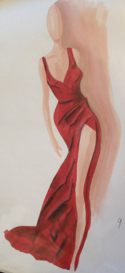 Red Faceless Dress
