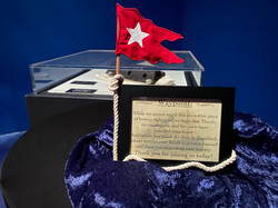 Embroidered Flag Display for Titanic: The Artifact Exhibition - Orlando, FL