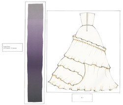 Purple Dress Flat Back