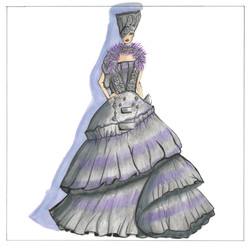 Purple Dress Sketch