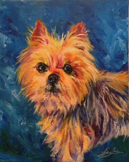 """Grizz"" pet portrait"