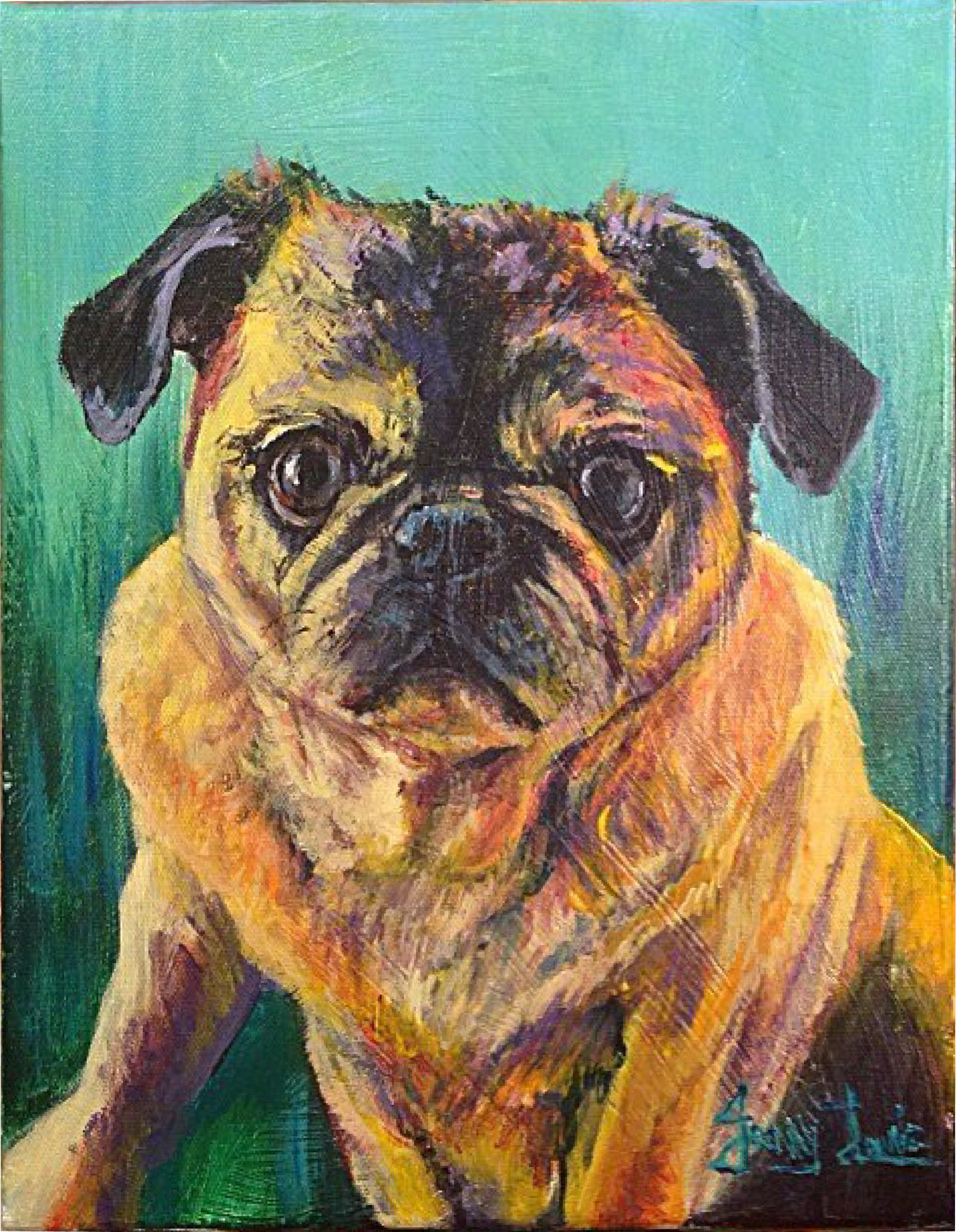 """Mollie"" pet portrait"