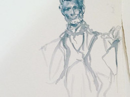 I Love Lincoln by Andrea LaHue, a watercolor of Abraham Lincoln