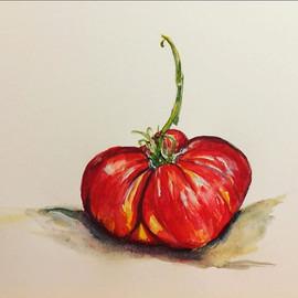 #tomato #watercolor