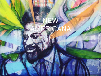 Thelonious Monk on this fine art contemporary painting by Andrea LaHue aka Random Act