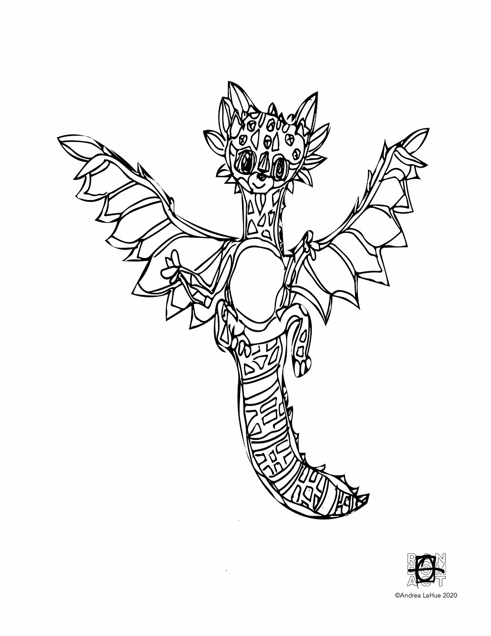 dragon fun 04017 coloring pages by Andrea LaHue