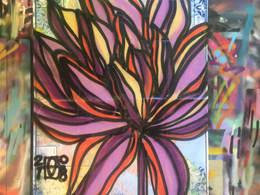 Nicole's Lotus on a New York City Map by Andrea LaHue aka Random Act