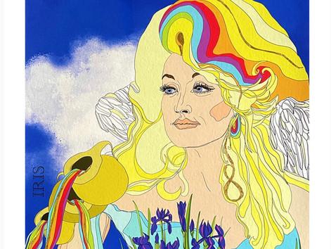 IRIS, Greek Goddess of Rainbows, Messenger for the Gods.