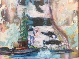 Lady Liberty multimedia painting by Andrea LaHue aka Random Act