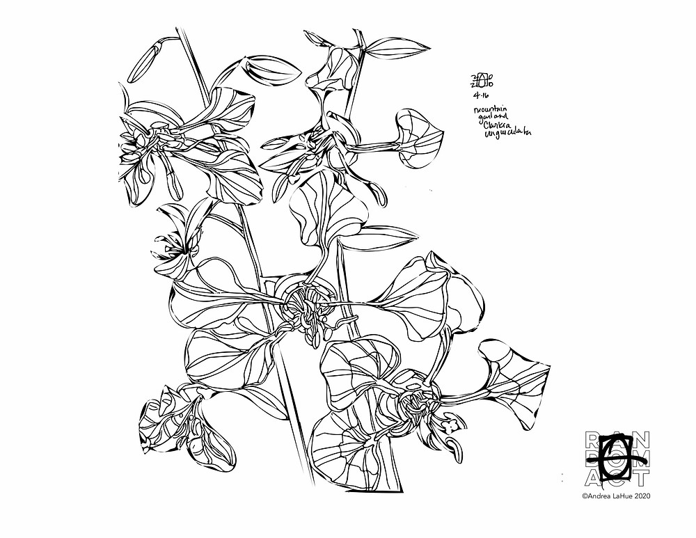 mountain garland coloring page by Andrea LaHue