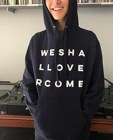 """""""We Shall Overcome"""" hooded sweatshirt by Andrea LaHue aka Random Act on the AtelierLaHue.com website"""
