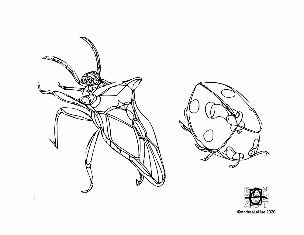 bug coloring page by Andrea LaHue