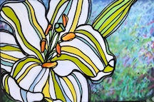 Good Morning Lily by Andrea LaHue aka Random Act, a contemporary fine art painting, museum quality, from a well established series of work.
